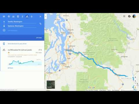 Bicycle Tour using Google Maps: Part 2 [Elevation gain and loss]