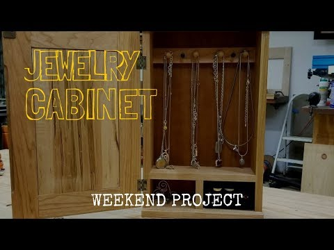Hanging Jewelry Cabinet (Weekend Woodworking Project)