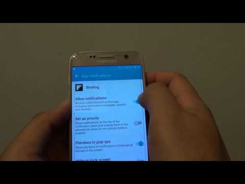 Samsung Galaxy S7: How to Turn App Notification On / Off