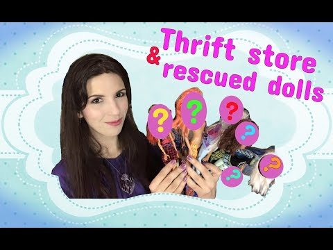 THRIFT STORE and RESCUED DOLLS #50  ~  Pre-owned / second-hand Monster High, Barbie and Disney