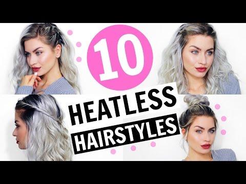 10 HAIRSTYLES FOR CURLY HAIR! HEATLESS & EASY | LYSSRYANN