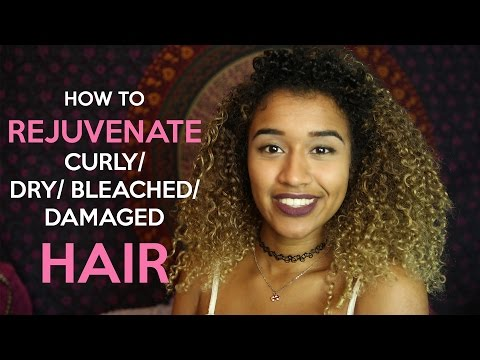 How to Rejuvenate Bleached/ Damaged Curly Hair  | OffbeatLook