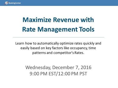WEBINAR : Maximize Revenue with Rate Management Tools