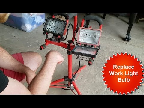 How to Replace Work Light Halogen Bulb/T-bulb