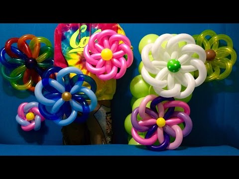Woven Flower Balloon Decorations!
