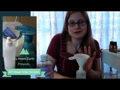 DIY Diaper Wipe Solution