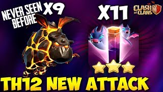 9 Lava Hound   11 Bat Spell: New Th12 Best War Attack Strategy 2018   Clash Of Clans