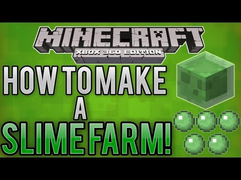 Minecraft Xbox 360/One - How to Make a Slime Farm (Tutorial) for Slimeballs + Sticky Pistons! PS4