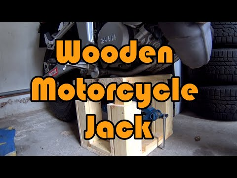 DIY How to make a wooden motorcycle jack / lift for 20$