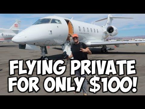 FLYING PRIVATE JETS FOR $100 PER FLIGHT! (JETSMARTER HACK)