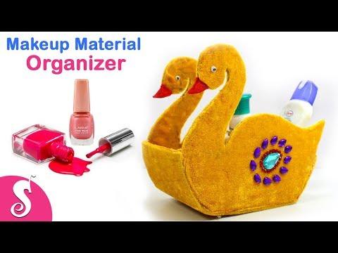 Best Cardboard Craft Idea | DIY Makeup Material Organizer craft from Cardboard | Best out of waste