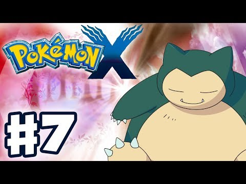 Pokemon X and Y - Gameplay Walkthrough Part 7 - Waking Snorlax! (Nintendo 3DS)