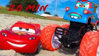 Monster Truck TORMENTOR MATER Lightning McQueen Stunts & Jumps Tricks Disney CARS TOONS