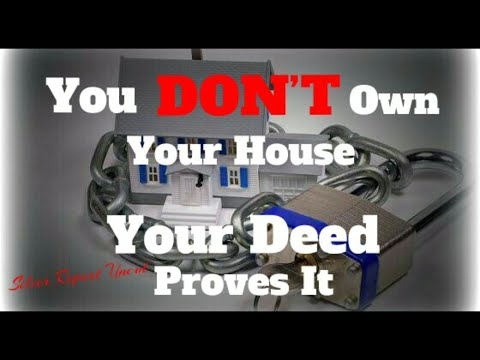 You Don't Own Your House And Your Deed Proves It! What is Allodial Title and How to Get It!