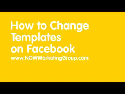 How to change your Facebook Tabs or Template on Business Pages