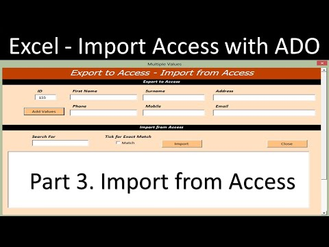 Excel Import from Access Database with ADO