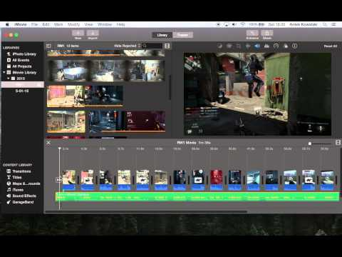 How to Fade In/Out Audio in iMovie 10 (2015)