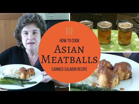 Asian Meatballs -- a canned salmon recipe