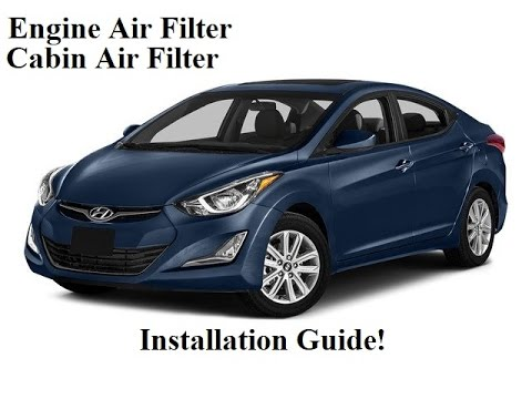 2010-2016 Hyundai Elantra Cabin Air Filter and Engine Air Filter Replacement