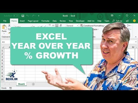 Learn Excel - Year over Year % Growth - Podcast 2152