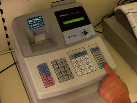 How to program tax or vat onto your cash register Sharp XE-A203 or XE-A303