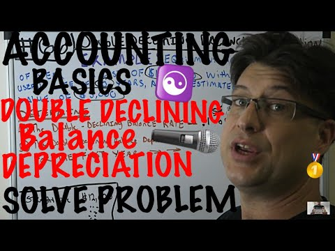 Accounting for Beginners #66 / Double Declining Balance Depreciation / Solve Problem
