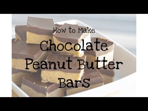 How to make CHOCOLATE PEANUT BUTTER BARS | Brownie Bakes It