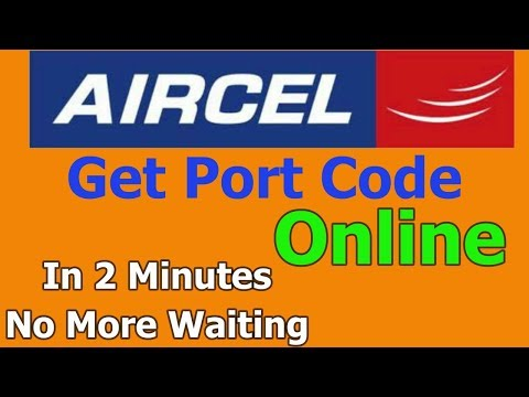 How to get AIRCEL UPC CODE without network | Port Aircel Number Online | Get Aircel Port Code Online