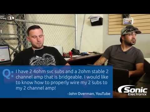 hqdefault how do i wire my subwoofers to my 2 channel amplifier? car audio q
