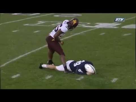 Joey Julius Gets Bullied! Penn State Kicker 300LBS Gets Hit Players Eejected