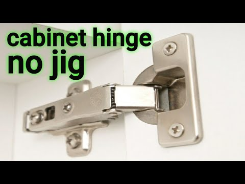 How to install cabinet hinge without