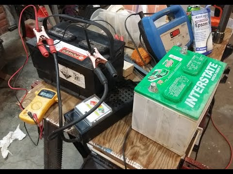 Restoring car truck rv batteries, testing them, CHEAP, FAST and EASY