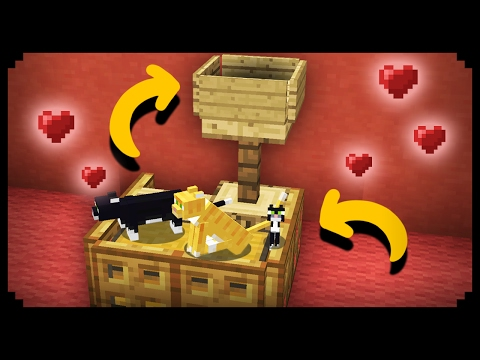 ✔ Minecraft: Working Cat House