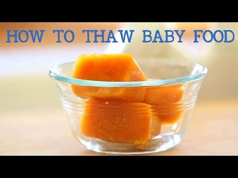 How to thaw frozen baby food