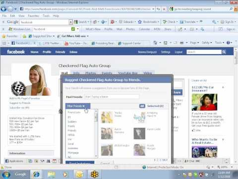 How To Invite Fans To Your Facebook Business Fan Page