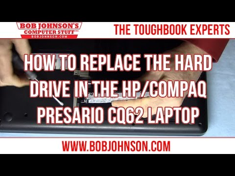 How to replace the Hard drive in the HP/Compaq Presario CQ62 Laptop