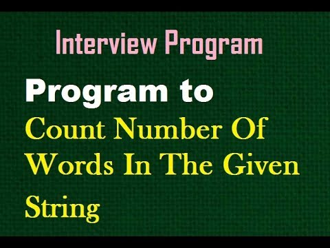 Program to Count Number Of Words In The Given String in C#.Net || D.K. Gautam