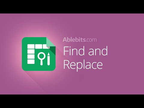 Advanced Find and Replace in Google Sheets