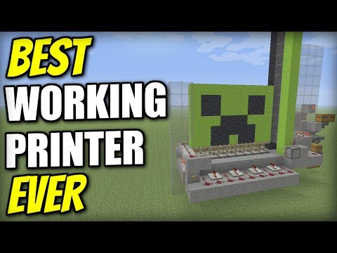 Minecraft Xbox - WORKING PRINTER [ Best Ever ] Redstone Tutorial - PS4 / PS3 / Wii U