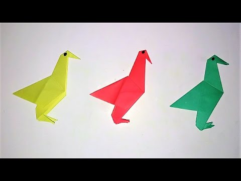 How to make an Origami Flapping Birds - Paper Birds that Flaps its Wings - Easy Paper Birds