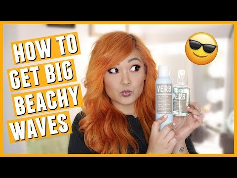 How To Get Big Textured Beachy Waves with Volume