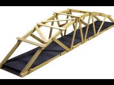 how to make a popsicle stick bridge that can hold maximum load