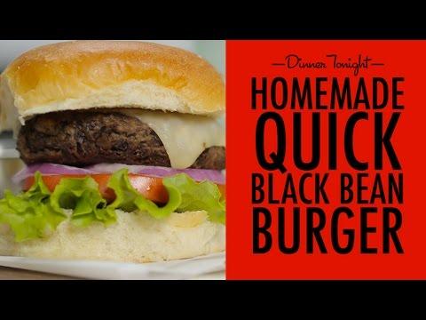 How to Make an Easy Black Bean Burger | Dinner Tonight | MyRecipes