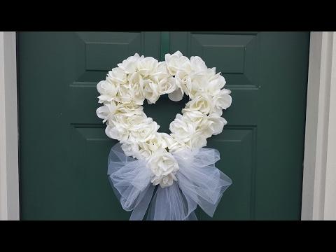 WEDDING WREATH | BRIDAL SHOWER | DOLLAR TREE DIY