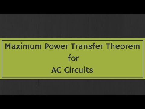 Maximum Power Transfer Theorem for AC Circuits (with examples)