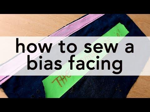 How to Sew a Bias Facing