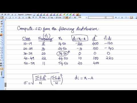 Standard Deviation Continuous Frequency Distribution Case Study 7