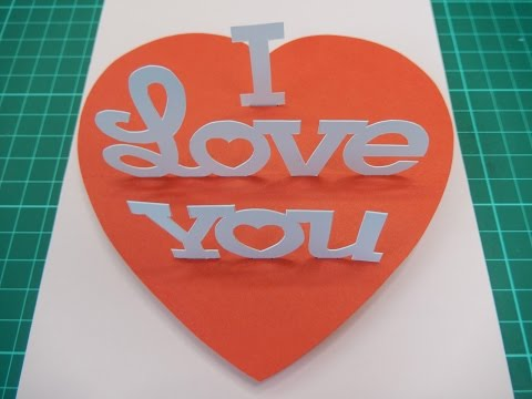 Pop Up Card I Love You Tutorial - 004