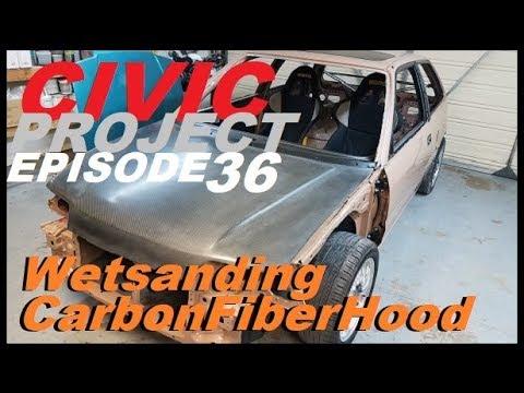 (Restoring Carbon Fiber Hood) EF Civic project ep.36 Part 1