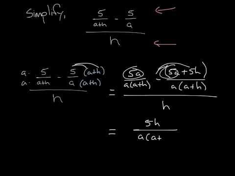 Complex Fraction - diff quotient